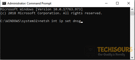 Typing the ip set command