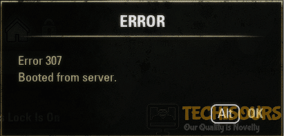 Show ESO Error 307 message