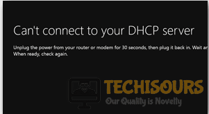"""To display Xbox One """"Can't Connect to Your DHCP server"""" error."""