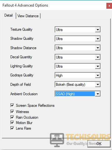 Lowering Fallout 4 settings