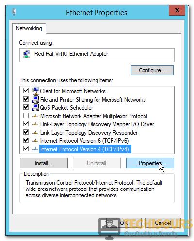 Select IPv4 Option