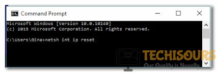 Type netsh int ip reset in cmd