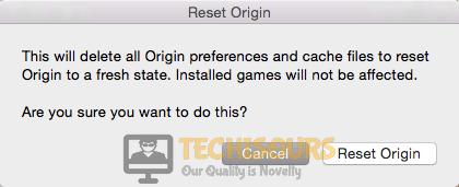 Click on Reset origin button