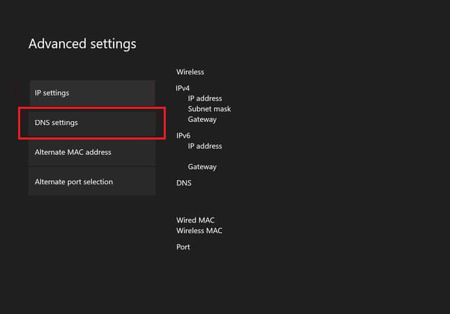 Click on the DNS Settings
