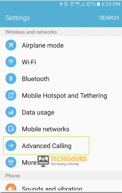 Advanced Calling.