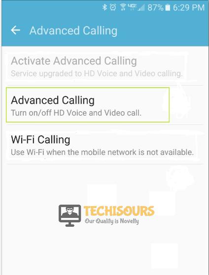 Enable Calling