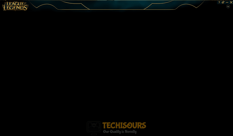 black screen league client