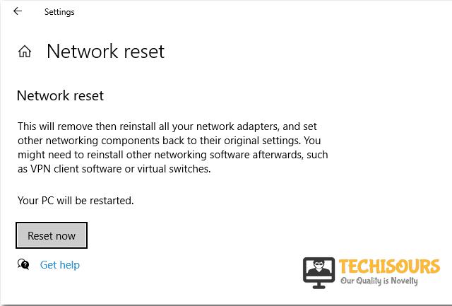 Reset Now