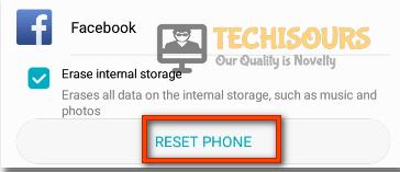 Choose Reset Phone option