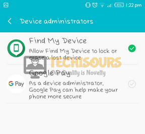 Click on Find my device