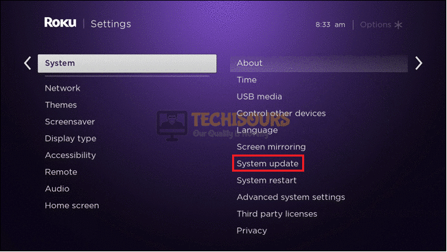 System update to rectify Error Code 003