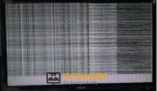 Strange patterns on screen