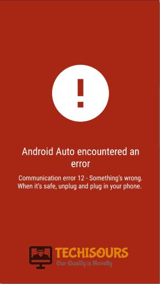 communication error 12