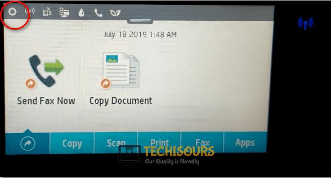 Choose printer settings