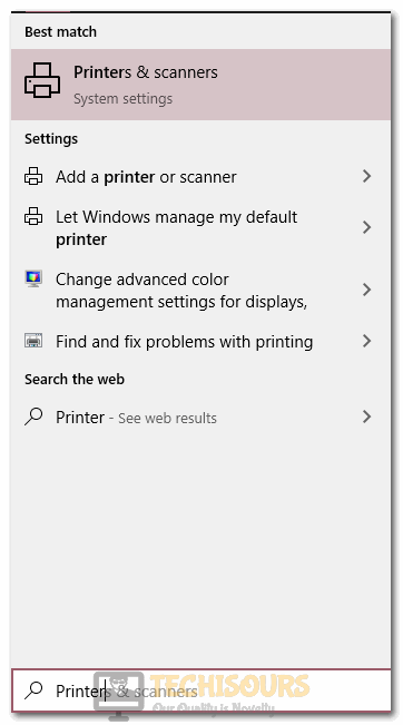 Typing printers and scanners