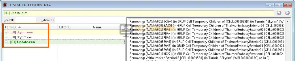 Clean the mods to fix skyrim crash log error