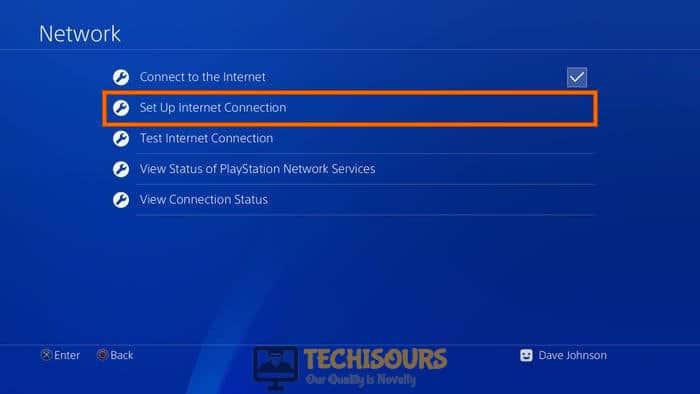 Set upInternet Connection to fix Hulu Error code 301