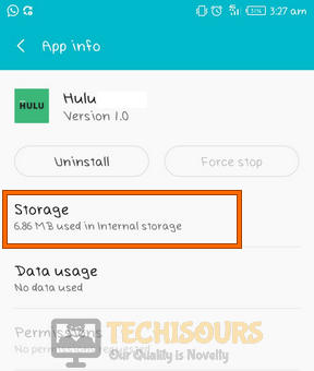 Choose storage to fix hulu error code rununk13