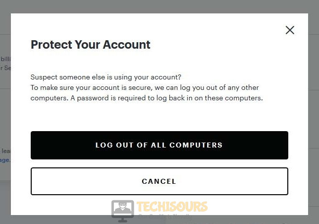 Log out of other computers to fix Hulu Error code 301