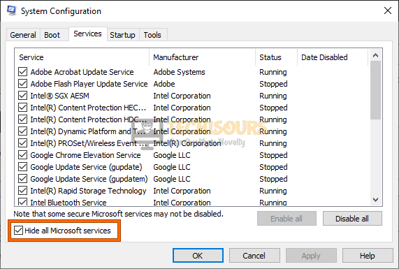 Hide all Microsoft services to fix .net runtime optimization service high cpu problem
