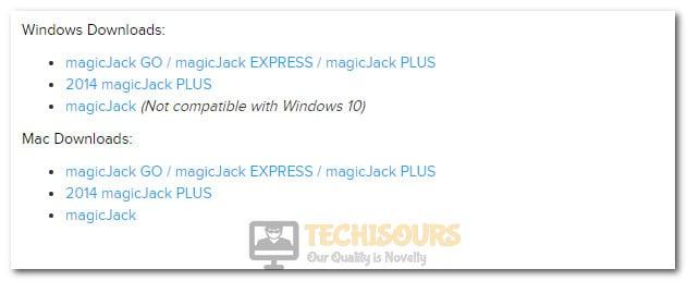 Downloading Firmware to fix MagicJack Error 23