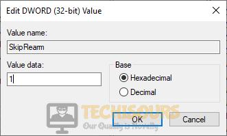 Edit values