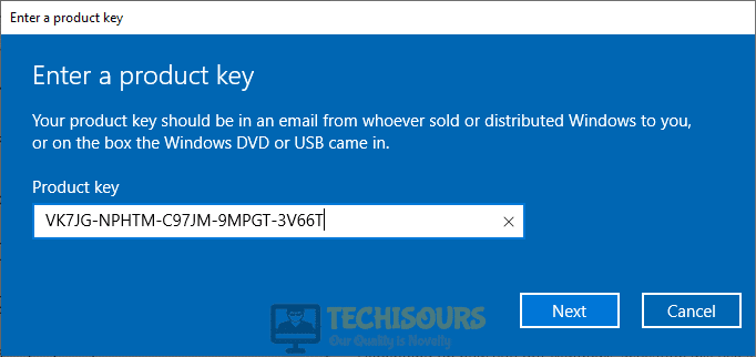 Default activation key