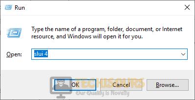 Enter slui command to fix windows error code 0xc004f025