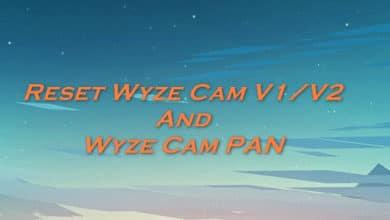 Reset Wyze Cam