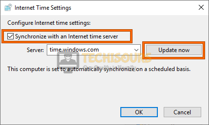 Synchronize with the internet time server to fix the Error 0xC1900223