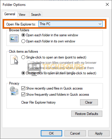 Open File Explorer to