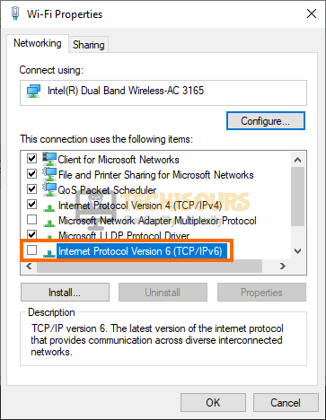 Disable IPv6 to fix Xbox Teredo Error