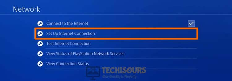 Setup Internet Connection to fix ws-37403-7 error