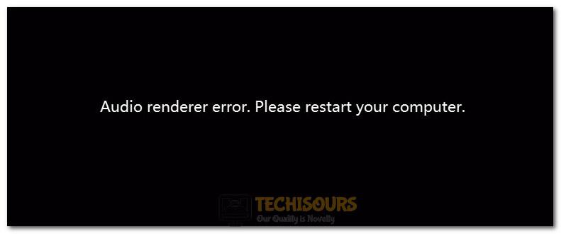 audio renderer error youtube