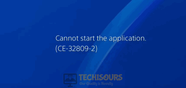 Error ce-32809-2 display