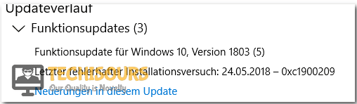Error 0xc1900209 display