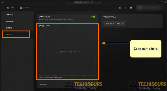 Add the game to Gamestream list to fix Application load error 5:0000065434