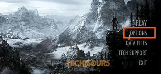 Choose Skyrim Options to fix skyrim failed to initialize renderer