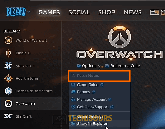 Install the latest patch of Overwatch