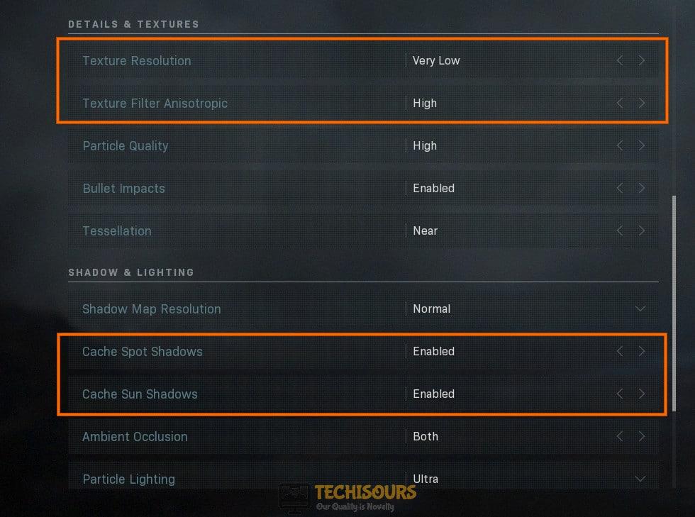 Tweak game settings to fix dev error 6178 modern warfare