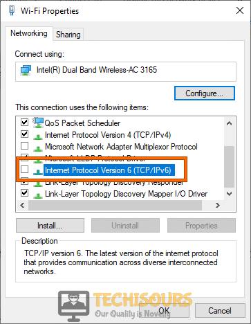 Internet Protocol Version 6 (TCP/IPv6)