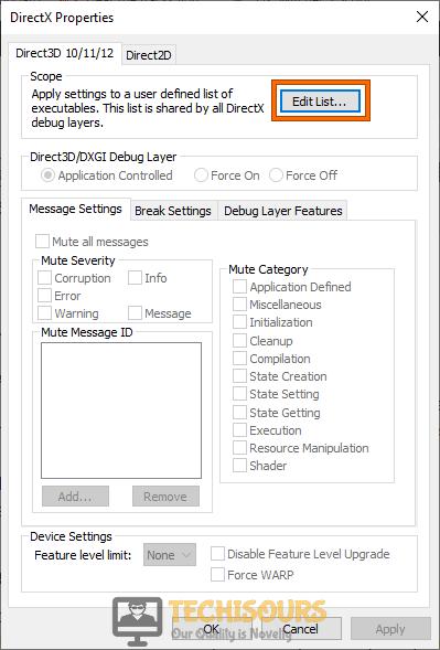 Click on Edit List option