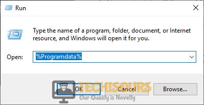 "Typing ""%Programdata%"" to fix Origin Overlay not Working error"