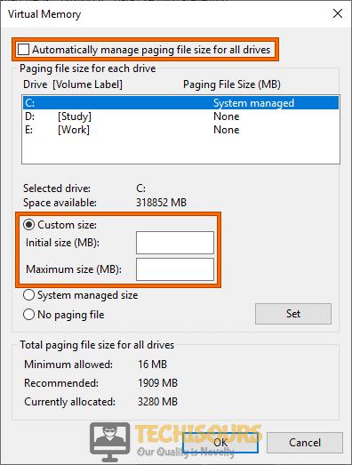 Enlarge Windows Pagefile