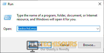 "Typing ""taskschd.msc"" to close uncserver"