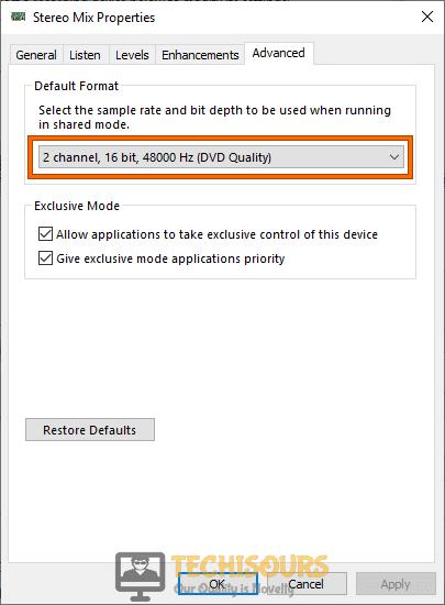 Set default Format to get rid of bioshock remastered crashing problem