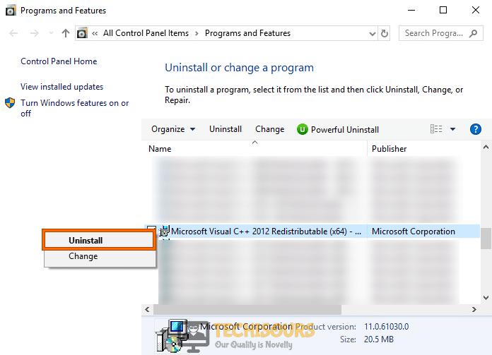 Uninstall Microsoft Visual C++ to fix geforce experience not opening problem