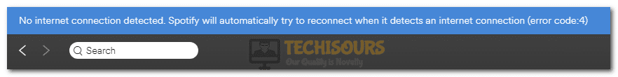 spotify error code 4 display