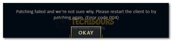 League of Legends Error 004