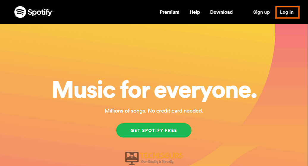 Login to Spotify to fix spotify keeps logging me out